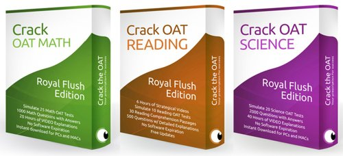 Optometry Admission Test - Crack the OAT Ultimate Bundle Package (2013-2014 Edition) [Digital Download]