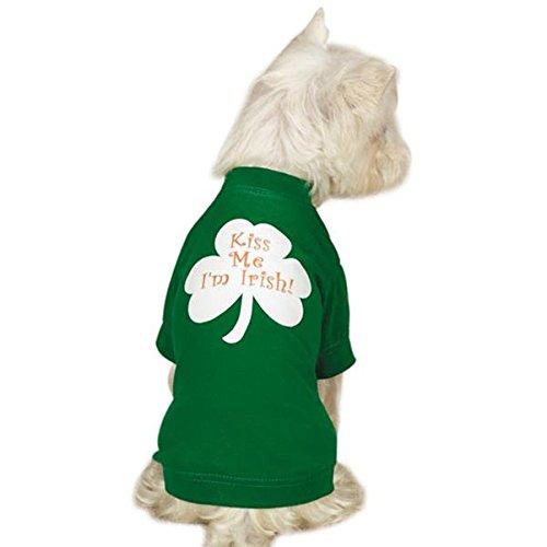 [Casual Canine ZM5113 14 43 Kiss Me I'm Irish Tee for Dogs, Small/Medium, Green] (Kiss Me Im Irish Costume)