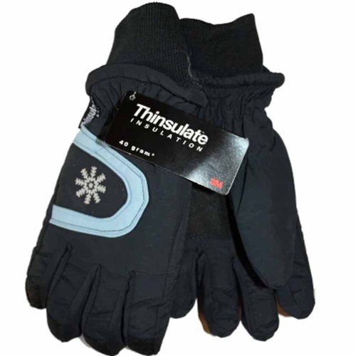 New Kids Boys Girls Ski Thinsulate Warm Winter Snow Gloves GC38 4-8 years Navy images