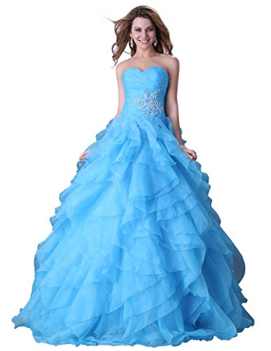 Sweetheart Long Ball Gown for Women Size 2 Blue (Blue Quinceanera Dresses compare prices)