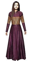 Rozdeal Outstanding Designer Dark Purple Gown