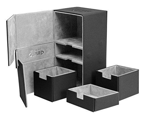 Ultimate Guard Twin Flip'n'Tray Deck Case 200+ Caja de Cartas Tamaño Estándar XenoSkin Negro