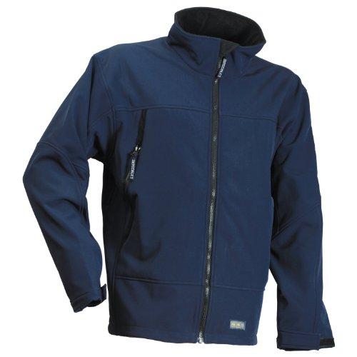 FOX100 Softshell Jacket / Mens Jackets Waterproof and windproof (XL) (Navy)