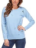 Fleur Bleue Camiseta Manga Larga Gaelle (Azul Celeste)