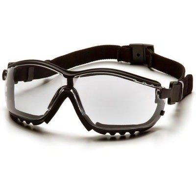 Pyramex V2G Safety Eyewear, Clear Anti-Fog Lens With Black Strap/Temples