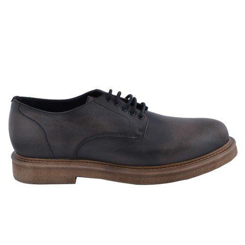 FRAU 76M1 antracite scarpe uomo derby liscio pelle