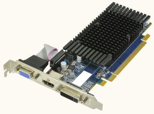 HIS Radeon HD 5450 Silence 1 GB (64bit) DDR3 HDMI DL-DVI (HDCP) VGA PCI Express 2.1 16x Video Card Retail (RoHS) H545H1G