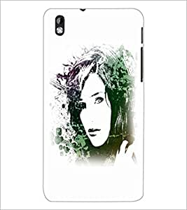 PrintDhaba Face D-5613 Back Case Cover for HTC DESIRE 816 (Multi-Coloured)