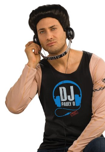 Jersey Shore Costume Accessory Pauly D Dj Headphones,Black/Silver,One Size - 1
