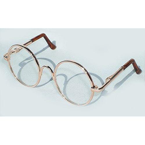블라이스 돌 용 레트로 동그라미 안경 선택할 수 있 사이즈 와 컬러(a골드)