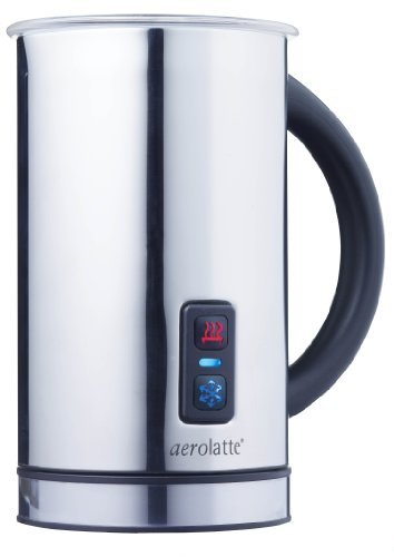 Aerolatte Automatic Compact Hot or Cold Milk Frothing Stainless Steel Jug, 11.5-Ounce