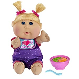 Cabbage patch kids babies blond hair with bowl and spoon for Chambre bebe toys r us