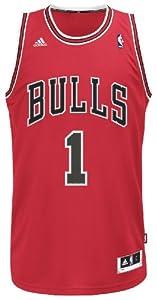 NBA Chicago Bulls Derrick Rose Swingman Jersey, Red