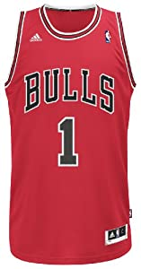 NBA Chicago Bulls Derrick Rose Swingman Jersey, Red by adidas