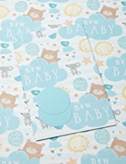 2 Cute Baby Boy Sheet Wrapping Papers