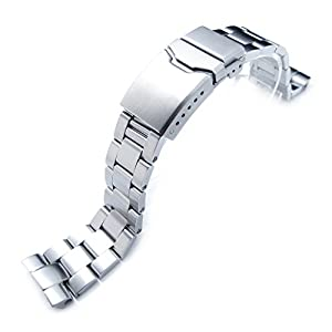 22mm Super Oyster Watch Bracelet for Seiko New Turtles SRP775 SRP777 SRP779, Button Chamfer