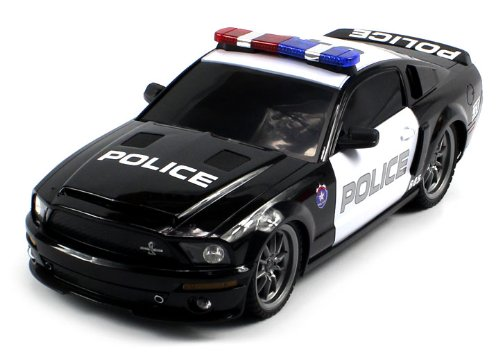 Officially Licensed Electric Full Function 1:18 Ford Mustang Shelby Gt500 Super Snake Police Rtr Rc Car (Colors May Vary)