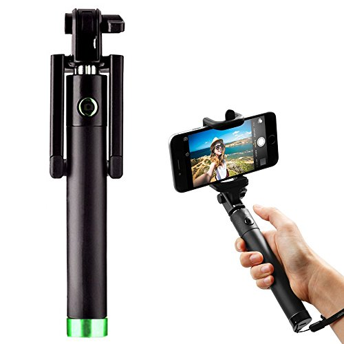 i blue selfie stick bluetooth monopod integrated foldable aid shoot take film photograph picture. Black Bedroom Furniture Sets. Home Design Ideas