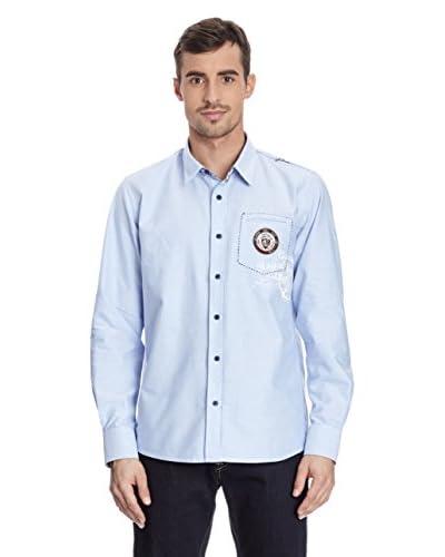 Galvanni Camisa Hombre Anker Azul Claro