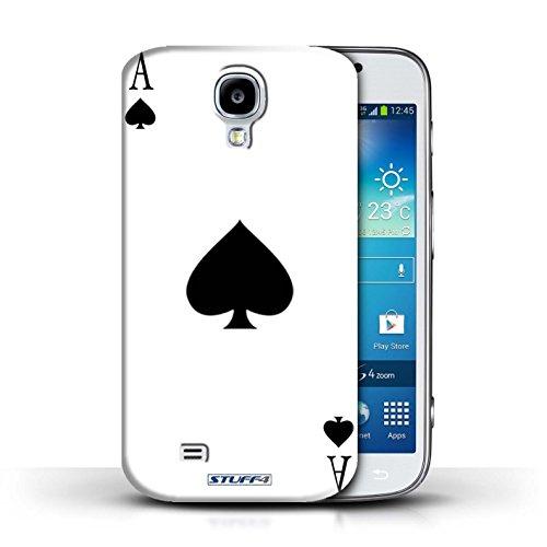 Custodia/Cover Rigide/Prottetiva STUFF4 stampata con il disegno Carte da gioco per Samsung Galaxy S4/SIV - Asso di picche