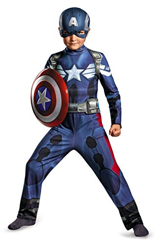 Disguise Captain America Movie Kids Costume