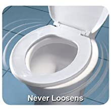 Mayfair 20SLOW 000 Slow-Close Plastic Toilet Seat with Lift-Off Hinges, STA-TITE Seat Fastening System, Round, White