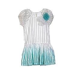 A Little Fable Girls Dip Dye Blue Dress