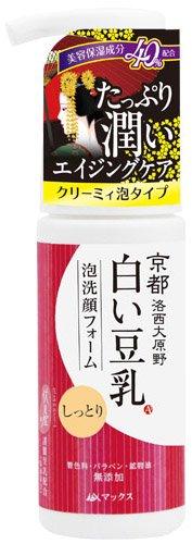 マックス 京都白い豆乳泡洗顔フォーム 150ml