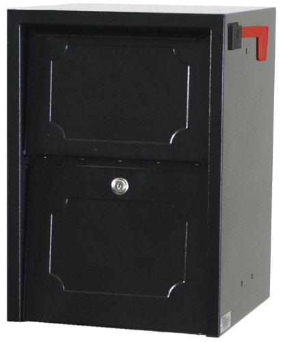 dVault® Weekend Away Vault DVJR0060 Locking Post/Column Mount Mailbox (Black)