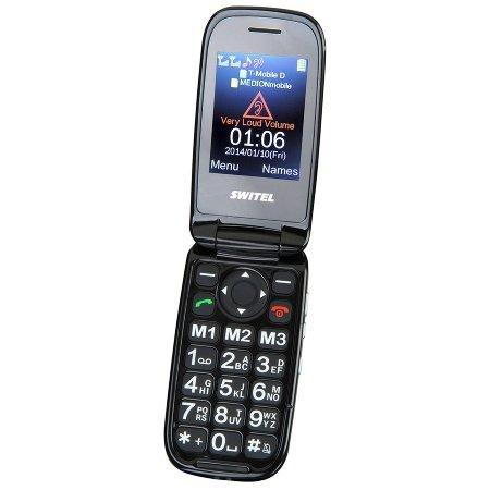 Switel m270d Mapa Quadband Téléphone portable Dual SIM Appareil photo 0,3Mpx, mini USB, Bluetooth (Noir)