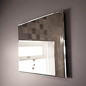 Bathroom Mirror Wall Furniture Large Cloakroom 500 X 400 Mounted Hung Modern Designer 5mm Glass