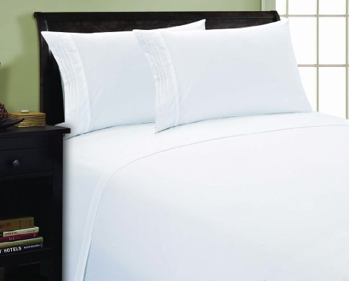 Elegant Comfort 4-Piece 1500 Thread Count Sheet Set, Queen, White