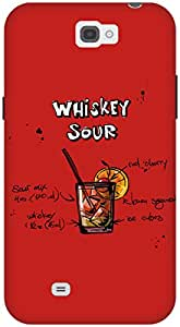 The Racoon Lean Cherry Whiskey Sour hard plastic printed back case / cover for Samsung Galaxy Note 2