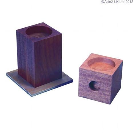 Able2 - Alzas de madera para camas y sillones - 15 cm.