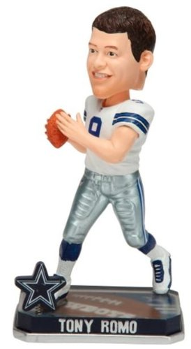 Tony Romo Dallas Cowboys Forever Collectibles 2014 NFL Springy Logo Base Bobblehead at Amazon.com