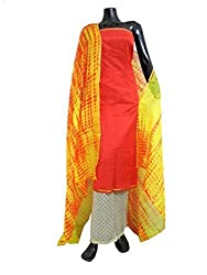 GiftPiper Handblock Print Chanderi Cotton Silk Suit with Kota Silk Dupatta