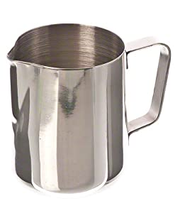 Update International EP-12 Stainless Steel Frothing Pitcher, 12-Ounce