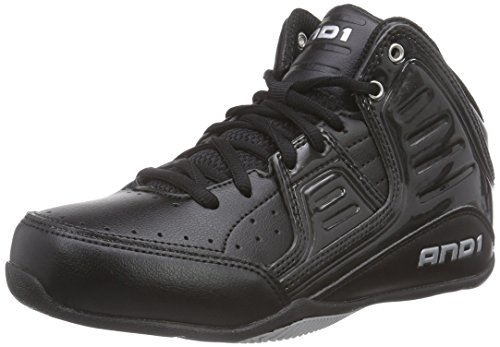 AND 1 Rocket 4.0 Skate Shoe (Little Kid/Big Kid), Black/Black/Silver, 3 M US Little Kid