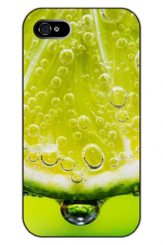 Sprawl New Interesting Creative 3D Food Design Hard Plastic Snap-On Case Cover Shell For Apple Iphone 4 4S 4G--Water Drop Dripping Green Lemon Slices