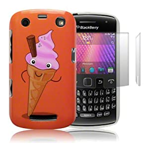 Blackberry Curve 9360 'Naughty Nibbles Cupcake' (designed by Creative Eleven) TPU Gel Skin / Case / Cover + 2-in-1 Screen Protector Pack -