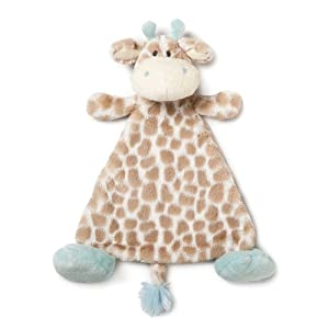 Nat and Jules Plush Toy, Colby Giraffe Rattle, Blankie