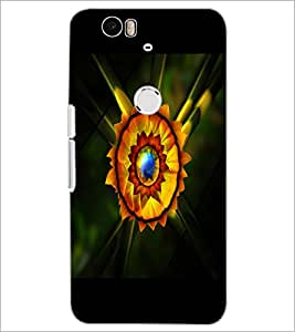PrintDhaba Flower D-2229 Back Case Cover for HUAWEI NEXUS 6P (Multi-Coloured)