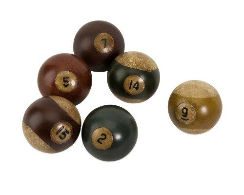 IMAX 70280-6 Antique Pool Balls, Set of 6