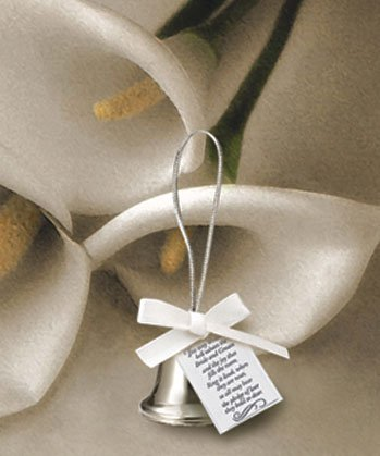Wedding Favors Silver kissing bells