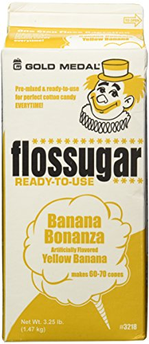 Gold Medal 3218 Banana Flossugar, 3.25 lb Carton Each (Sugar Candy Maker compare prices)