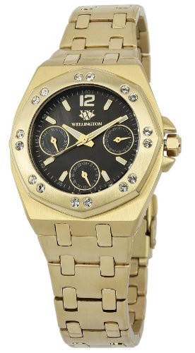 Wellington Moana Women's Quartz Watch with Mother of Pearl Dial Analogue Display and Gold Stainless Steel Plated Bracelet WN510-229