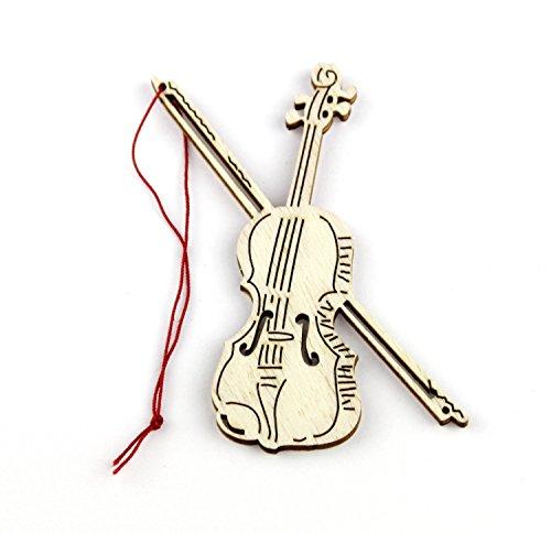 Anhnger-Geige-Pappelholz-Schnes-Geschenk-fr-Musiker
