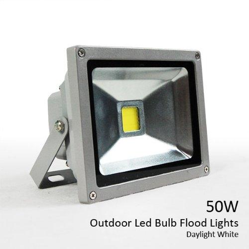 High Power 50W Outdoor Daylight White Led Bulb Flood Light Fixture 120V