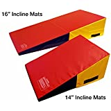 Incstores Wedge Shape Gymnastics Incline Mat Ideal for Tumbling, Practice & Exercise