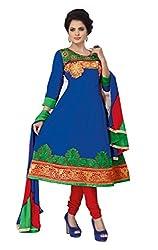 Soru Fashion Women's Cotton Dress Material (Shiv-1107_Blue_Free Size)